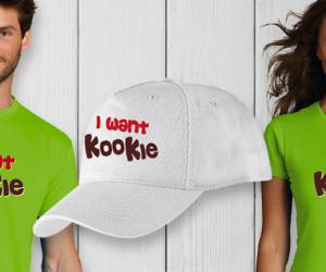 Delicious Coconut Kookie… check out the great I Want Kookie merchandising!