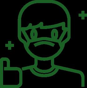 icona man mascherina