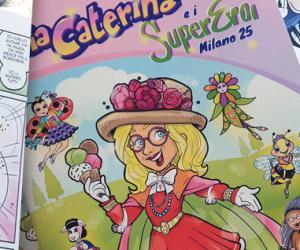 Zia Caterina in un fumetto che racconta Amore!