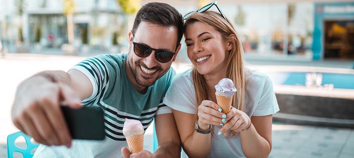 Las redes sociales en la heladería